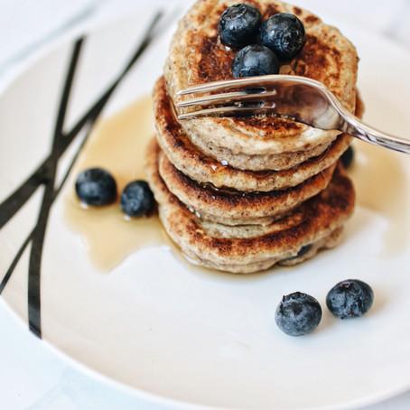 Blueberry Oatmeal Pancakes