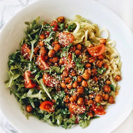 Proljetna salata sa špagetima (od tikvice!)