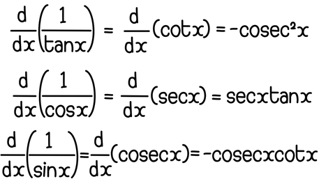 Differentiating trigonometric reciprocals