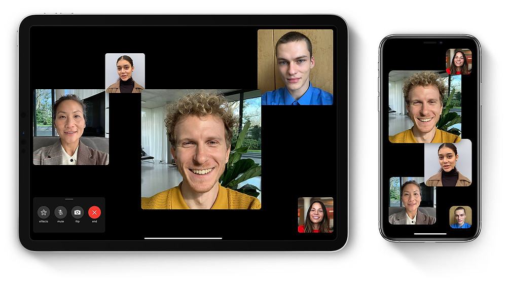 Group FaceTime, video conferencing, networking