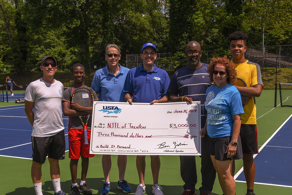 NJTLT Receiving $3,000 from USTA Middle States