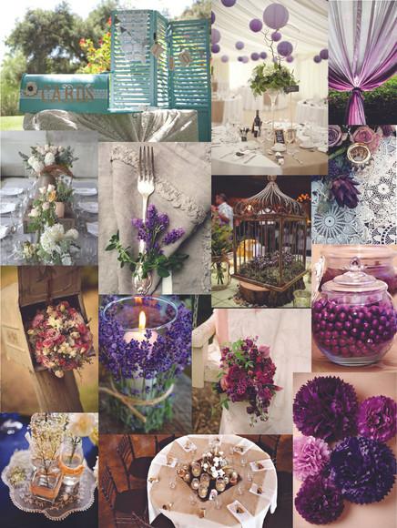 Wedding Mood Board - Deep purples for Fall