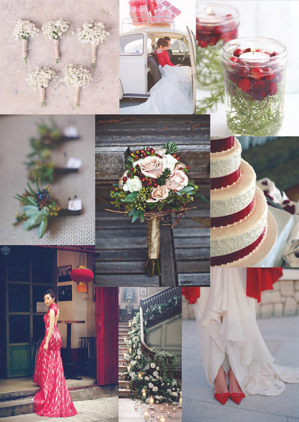 November Weddings - A touch of Red