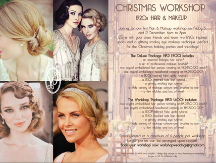 Our First Christmas Workshop... Downton Abbey style!!