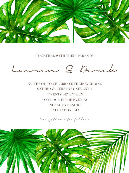 Water colour and your wedding: stationary