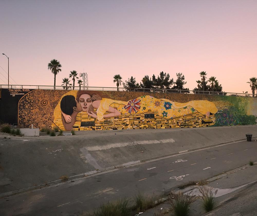 War Kiss Mural, Long Beach, CA