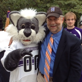 Fodor with Willie the Wildcat