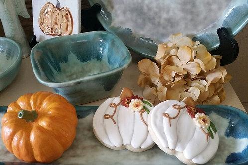 Chic Pumpkin Sugar Cookies - One Dozen