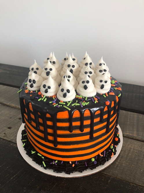 "6"" Halloween Boo Cake- Store Pickup Only"