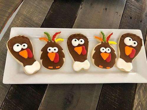 Funny Turkeys Sugar Cookies - One Dozen