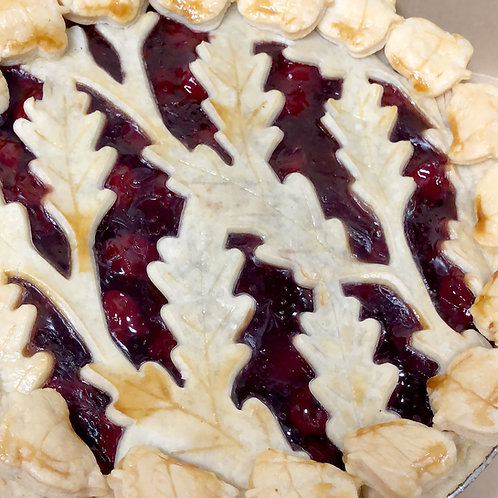 Fall Fruit Leaf Lattice Pie- Store Pickup Only