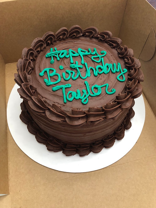 "6"" Chocolate Iced Birthday Cake- Store Pickup Only"
