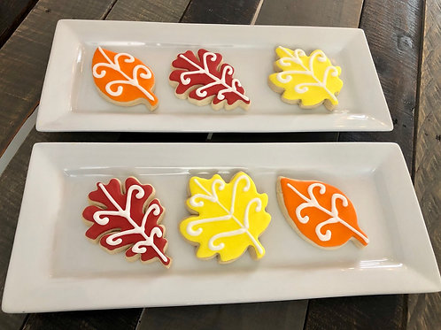 Fall Leaves Sugar Cookies - One Dozen