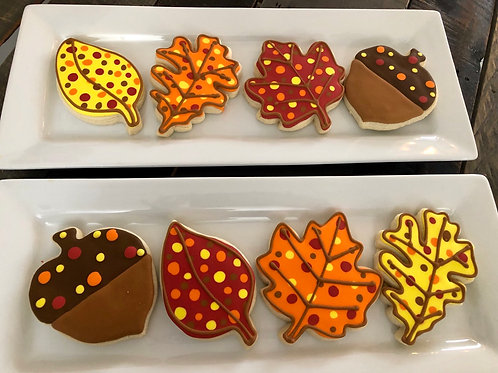 Fall Dots Sugar Cookies - One Dozen