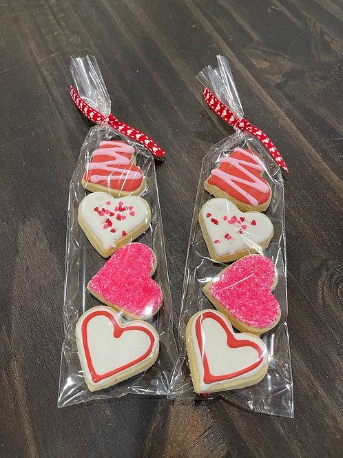 Mini Heart Valentine Cookies