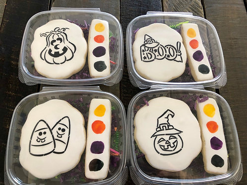 Paint Your Own Halloween Sugar Cookie Set