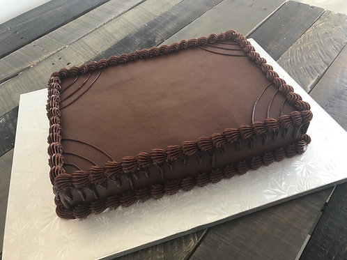 1/2 Sheet Chocolate Iced Birthday Cake- Store Pickup Only