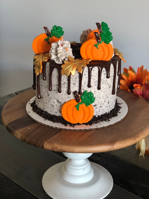 "6"" Thanksgiving Chocolate Drip Cake- Store Pickup Only"