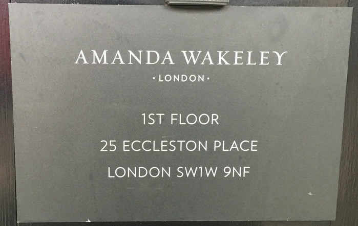 Internship at Amanda Wakeley | London