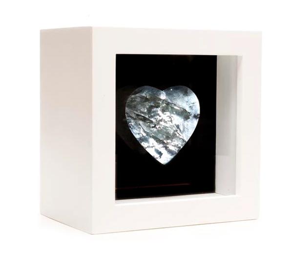 luminária coração cristal