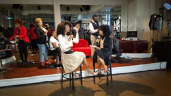 naturally hurd hair event stage pic 2 with Chime Edwards