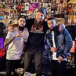 Picture of David Correy, Mike Hitt and Balistic Man at MCM Studios in Pittsburgh PA