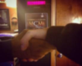 Hand Shake at MCM Studios Pittsburgh Recording Studio