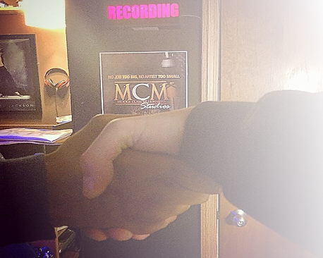Hand Shake at MCM Studios Pittsburgh Recording Studio