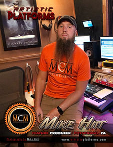 Music Producer Mike Hitt at MCM Studios in Pittsburgh PA fatured on Artistic Platforms Magazne