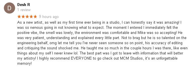 MCM Recording Studio Review