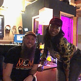 Female Rapper with Music Producer Mike Hitt at MCM Studios in Pittsburgh, PA
