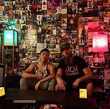 Chinese Rapper Yuhao Wu with MusicProducer Mike Hitt at MCM Studios in Pittsburgh PA