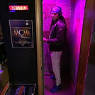 Rapper in Studio Booth at MCM Studios in Pittsburgh PA