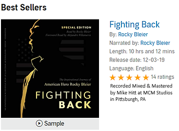 Picture of Rocky Bleier Fighting Back Audio book recorded, mixed and mastered by MCM Studios