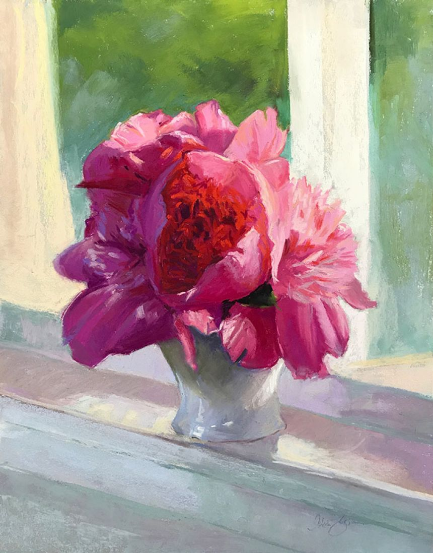 Kitchen Window Peonies