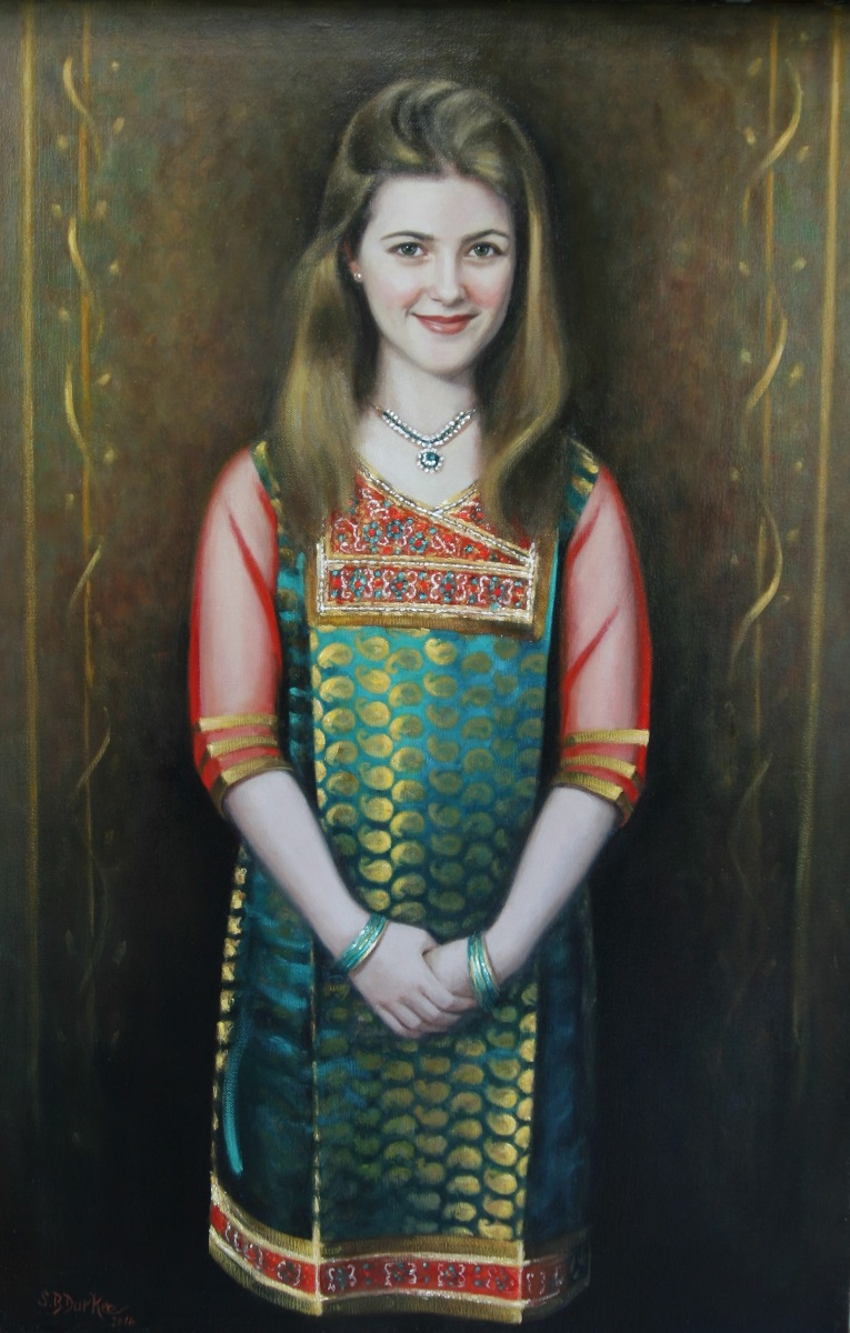 Girl in Hindi Dress