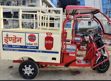 eRickshaw for Indane LPG delivery