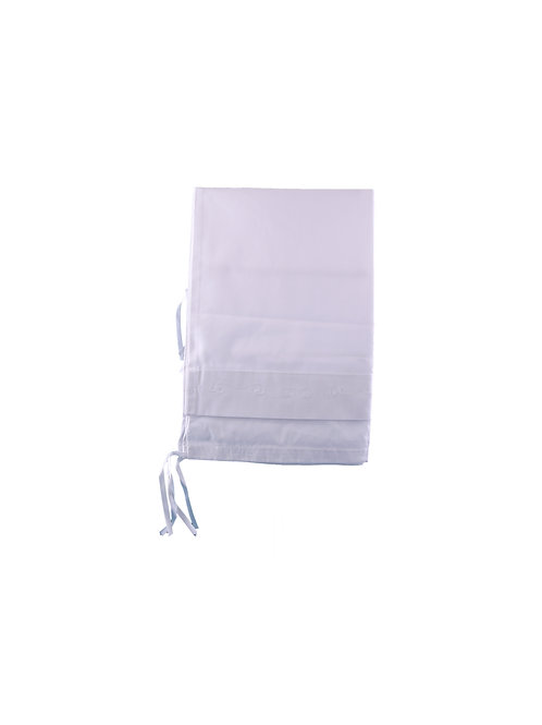 Pair of White Cotton Neckroll Covers