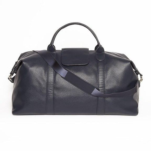 The Stanford Blue Leather Duffel Bag