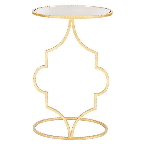 Willa Hammered Gold or Silver Leaf Side Table