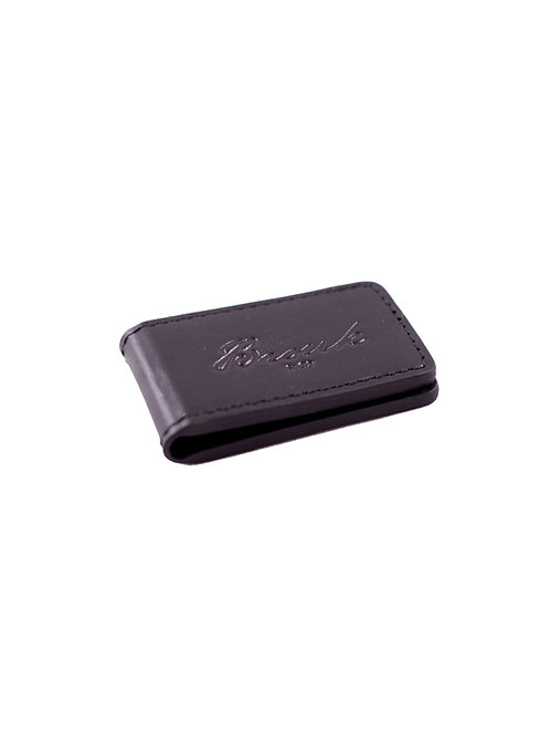 Stay Put Magnetic Leather Money Clip