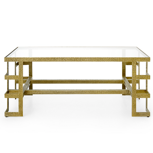 Champagne Bronze Plano Coffee Table