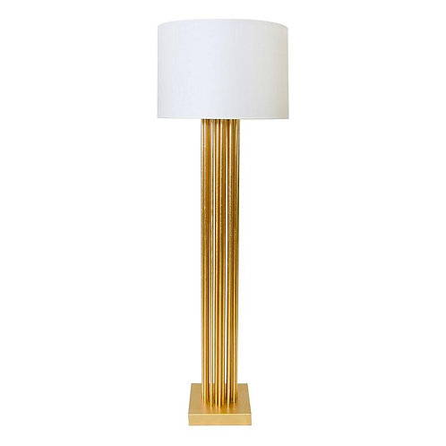 The Gibson Gold Leaf Pipe Floor Lamp