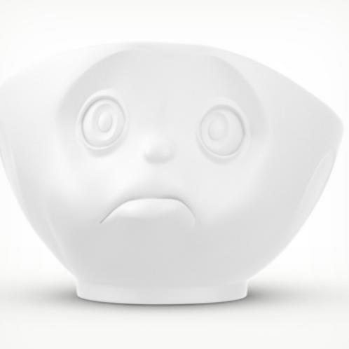 """""""Sulking"""" White Bowl 500ml"""