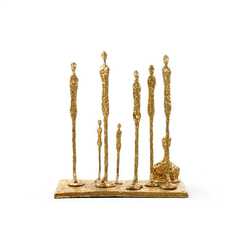 Muir Gold Leafed Iron Statue