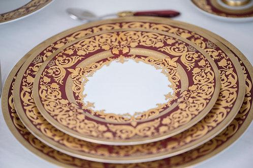 6 Piece Set Natalia Bordeaux Fine China by Ceylan