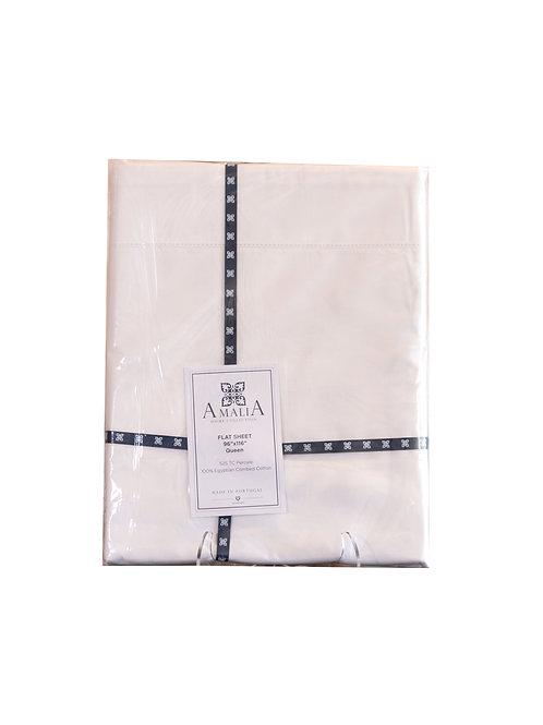 100% Egyptian Cotton Queen Flat Sheet 525TC