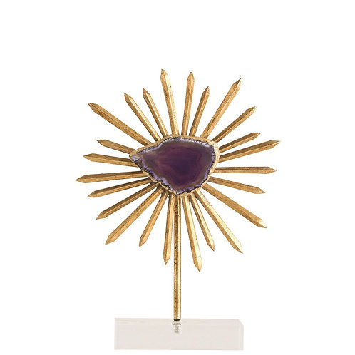 Omari Agate & Gold Leaf Sculpture