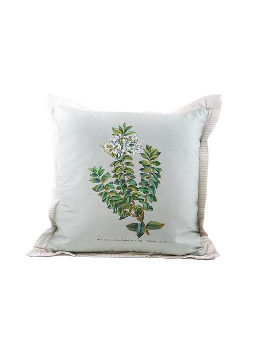 Hand Painted Curtis Botanicals on Silk Pillow