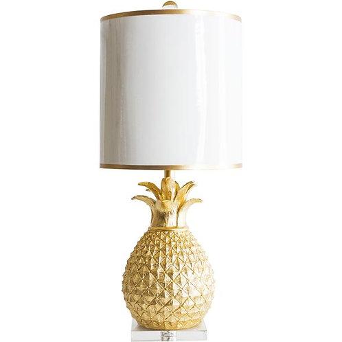 """31"""" Golden Pineapple Table Lamp"""